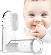 Baby tandenborstel - 2 stuks vingertandenborstel kindertandenborstel op vinger siliconen