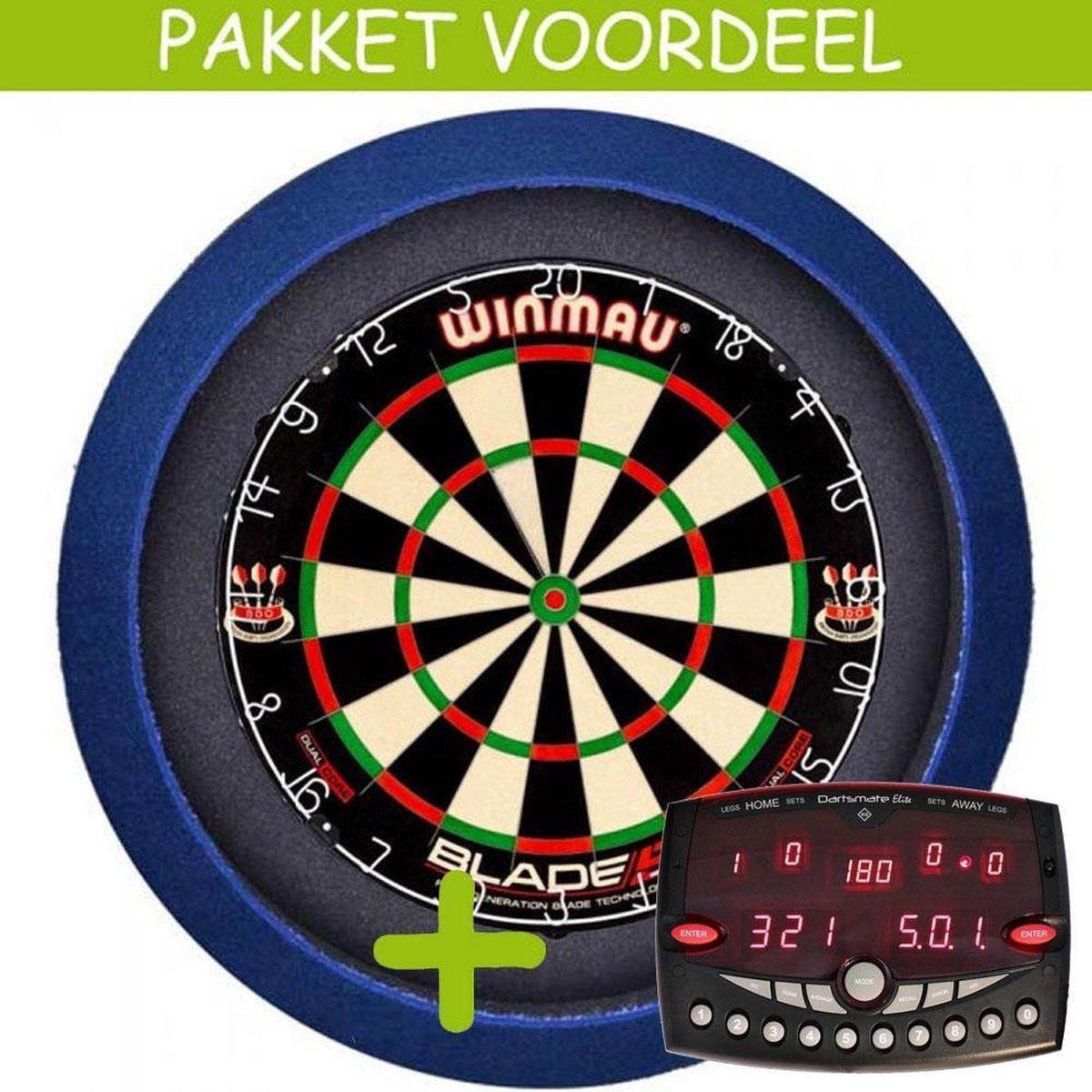 Elektronisch Dart Scorebord VoordeelPakket (Elite ) - Dual Core - Dartbordverlichting Basic (Blauw)