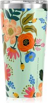 Corkcicle Tumbler - 475ml Gloss Mint - Lively Floral Rifle Paper Collab