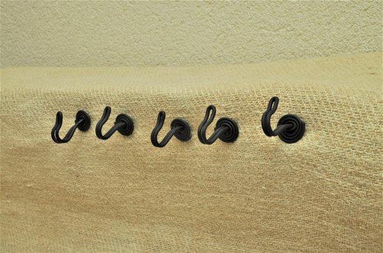 Kolony Draadhaak zwart, set van 5 stuks