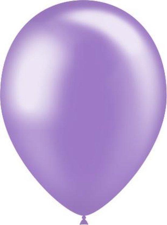Lila Ballonnen Metallic 25cm 10st