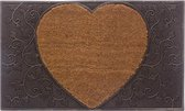 Atmosphera Deurmat hart - 45 x 75 cm - voetmat - kokosmat - deurmat kokos, kokosmat, Schoonloopmat, kokosvezel, voegveger, doormat