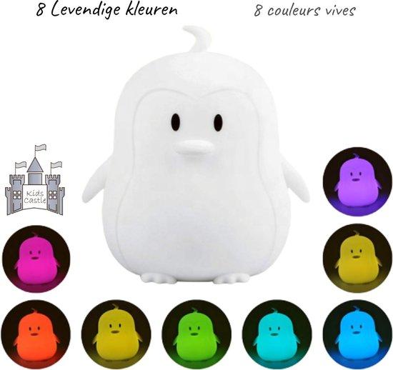 Kids Castle meerkleurig LED Nachtlampje Penguin - Accu - Oplaadbaar