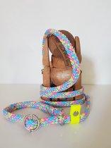Retriever lijn   Jachtlijn   Halsband en lijn   Handgemaakt   Uniek   Walk that Dog!   Bubblegum