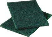 60 stuks schuurlapjes groen. 150 x 150 mm. schuurvlies