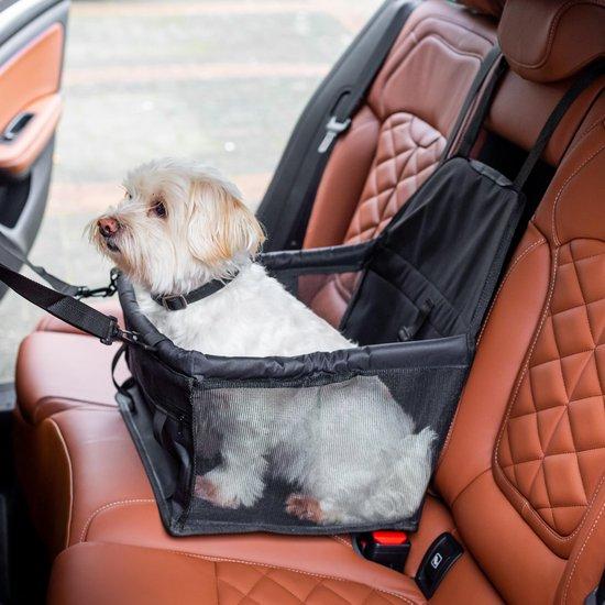 Zwarte Auto Hondenmand met GRATIS Autogordel Hondenriem | Automand | Hondenstoel | Hondenzitje | Autostoel | Autohondenriem