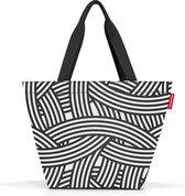 Reisenthel Shopper M Handtas Shopper - 15L - Zebra Zwart Wit