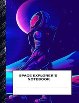Space Explorer's Notebook: Boys' and Girls Fun Handwriting and Printing Practice Notebook for Grades K-2-3