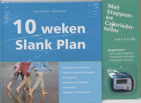 Cover van het boek '10 weken Slank Plan + stappenteller' van C.G.J. Bosman-Appelo en Mirjam Bakker-van Dam