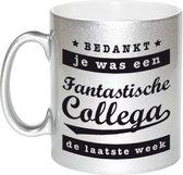 Je was een fantastische collega de laatste week koffiemok / theebeker - 330 ml - zilverkleurig - carriere switch / VUT / pensioen - bedankt cadeau collega / teamgenoot