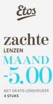 Etos Zachte 3-Maandlenzen 12 stuks (3 x 4 stuks) -5.00 + Lenshouder