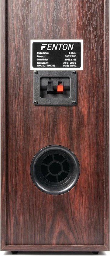 Fenton 5.1 Home Cinema Surround Walnoot Speakerset 1300W met 10 Subwoofer