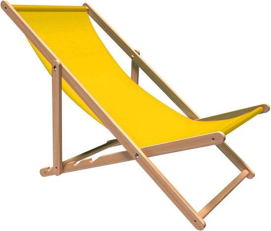 Holtaz - Premium strandstoel - Inklapbaar - Beukenhout