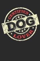 Certified Dog Lover: Notebook Dot Grid