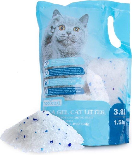 Nobleza kattenbakvulling - Silicakorrels - Snel absorberend - 3.8 L