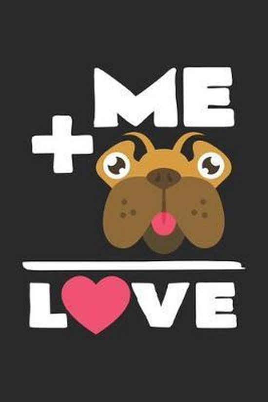 Love me: 6x9 Pug - grid - squared paper - notebook - notes