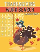 Thanksgiving Word Search Large Print