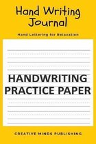 Hand Writing Notebook: Blank Dotted Writing Notebook For Preschool And Kindergarten (Primary Composition Book/Notepad, Hand Writing Practice