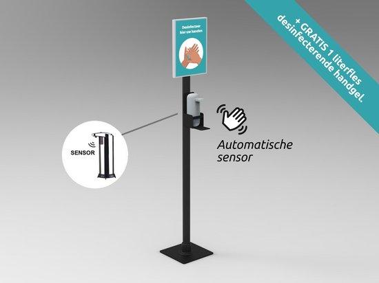 Desinfectie zuil   Desinfectie paal   Type: Slimline   Automatische Sensor   Desinfectiezuil