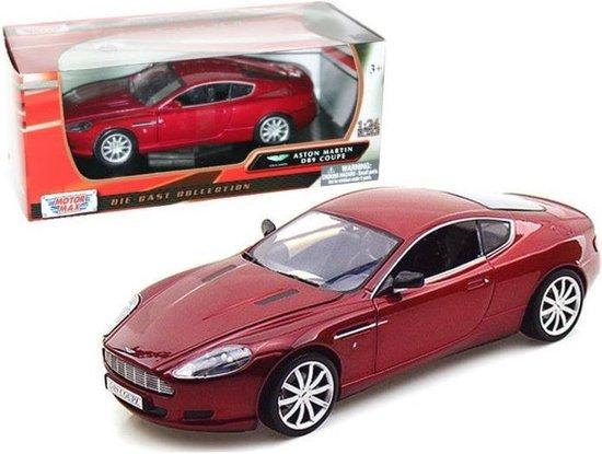 Aston Martin DB9 Coupe Rood 1/24 Motor Max - Modelauto - Schaalmodel - Miniatuurauto