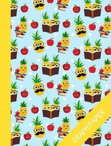 Pineapple: Graph Paper Notebook For Kids, Perfect For Math And Science, Quad Ruled Composition Notebook For School