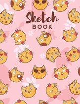 Sketch Book: 8.5 x 11 Cat Themed Cover Sketchbook for Creative Drawing and Sketching Activities For Kids and Adults