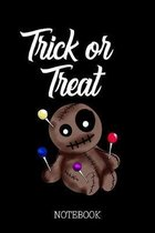 Trick or Treat - Notebook: Voodoo Doll with Pins