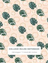 College Ruled Notebook: A Tropical Abstract Composition School Notebook
