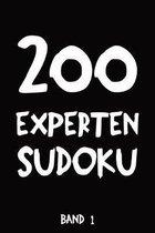 200 Experten Sudoku Band 1: Puzzle R�tsel Heft, 9x9, 2 R�tsel pro Seite