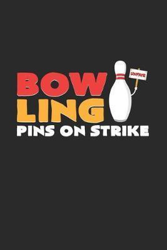 Bowling pins on strike: 6x9 Bowling - dotgrid - dot grid paper - notebook - notes