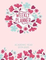 Weekly Planner Academic Year 2019-2020: Dated Calendar With To-Do List and space for Notes, Cute floral cover