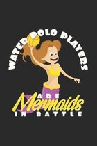 Water polo players mermaids: 6x9 Water Polo - dotgrid - dot grid paper - notebook - notes