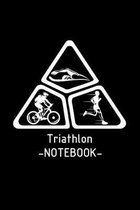 Triathlon: 6x9 Triathlon - blank with numbers paper - notebook - notes