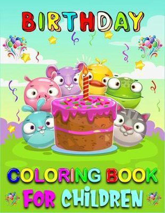 Birthday Coloring Book For Children