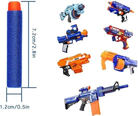 50 Universele Pijlen/Darts/Kogels Geschikt Voor NERF N-Strike Elite Speelgoedblasters - Met Gratis Schietschijf - Kleur Blauw