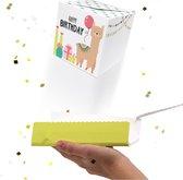 LocoBox - Wenskaart - Verjaardagskaart - Confetti - Boomf - Pop up kaarten - Verjaardag - Happy birthday