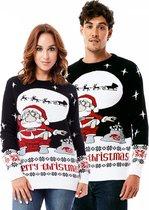"""Foute Kersttrui Dames & Heren - Christmas Sweater - """"Kerstman Redt de WC Niet"""" - Kerst trui Mannen & Vrouwen Maat S"""