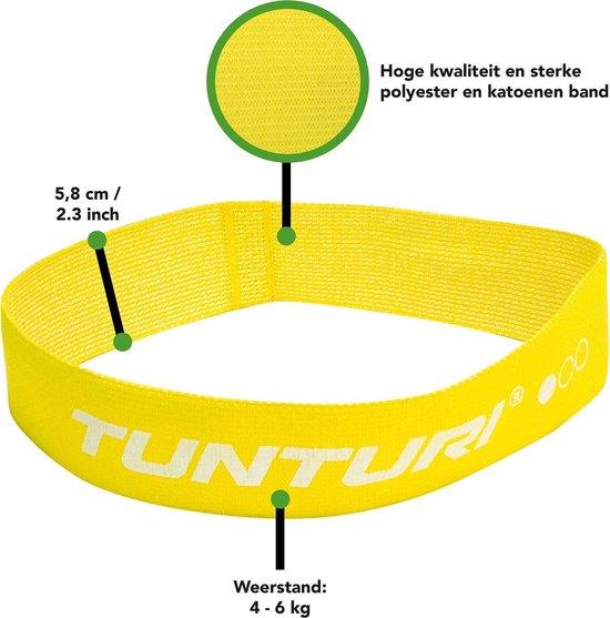 Tunturi Weerstandsband textiel - resistance band - Geel - Licht