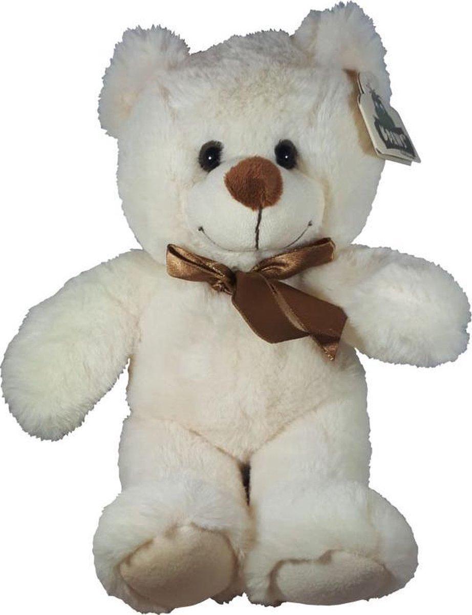 Teddybeer Met Strik Wit 30cm