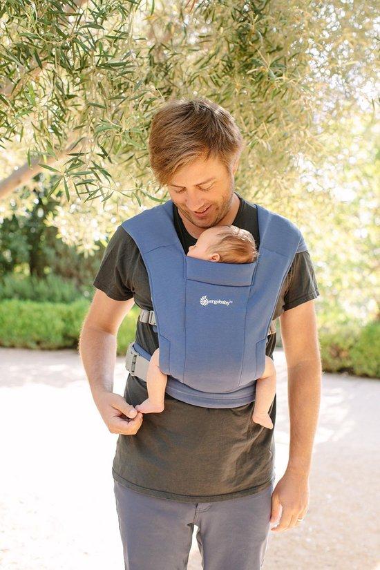 Ergobaby Baby Draagzak Embrace Soft Navy - ergonomische draagzak vanaf geboorte