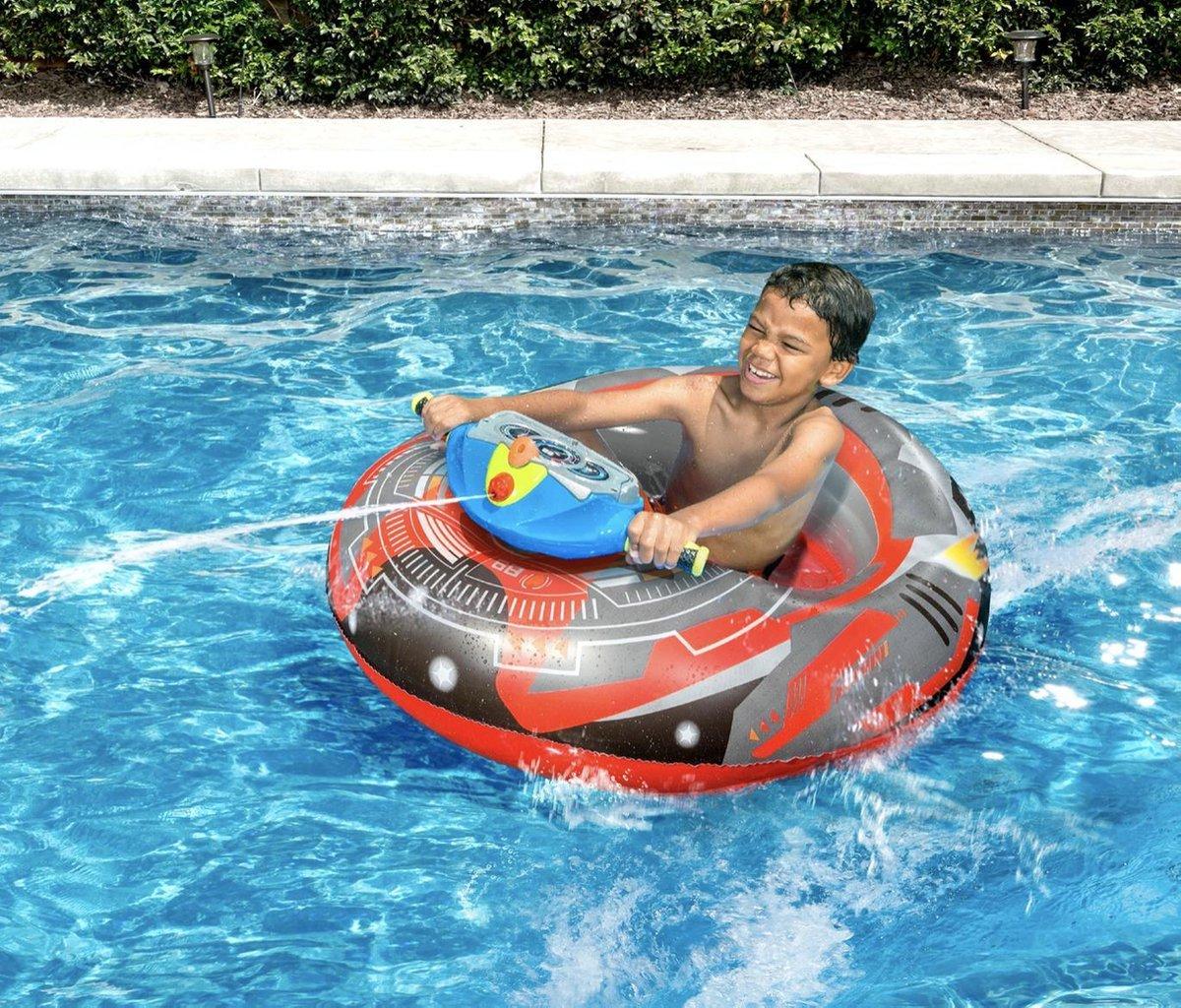 Motorized Bumper Boat - Opblaasbare botsauto + Waterpistool - luchtbed - Intex - waterspeelgoed - opblaasbaar - zwembad - opblaasfiguur kopen