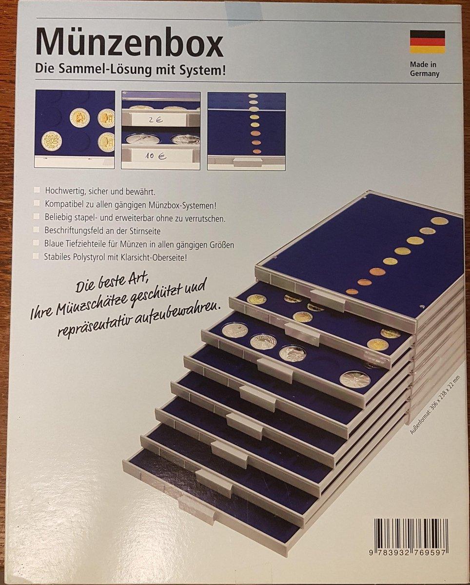 Muntencassette 48 vaks voor 6 complete setjes  euromunten