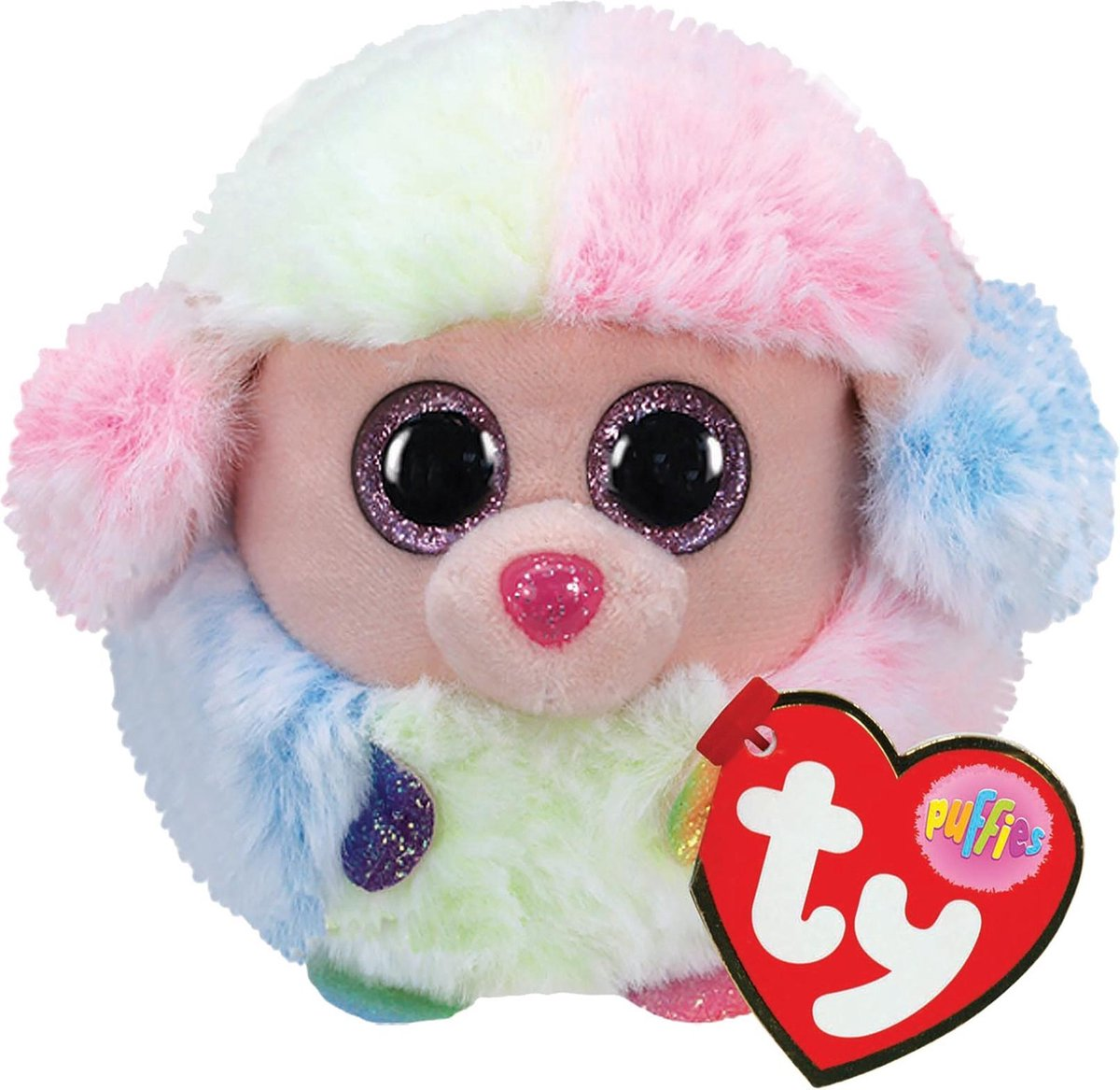 TY Puffies Knuffel Poedel Rainbow 8 cm