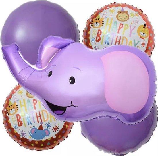 Olifant-Folie-Ballonnen-Set(5stuks) 1+ 1 gratis