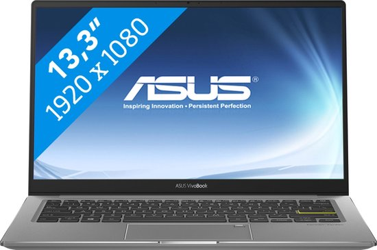 ASUS VivoBook S13 S333JQ-EG010T Notebook Grijs 33,8 cm (13.3'') 1920 x 1080 Pixels Intel® 10de generatie Core™ i7 8 GB DDR4-SDRAM 256 GB SSD NVIDIA GeForce MX350 Wi-Fi 6 (802.11ax) Windows 10 Home