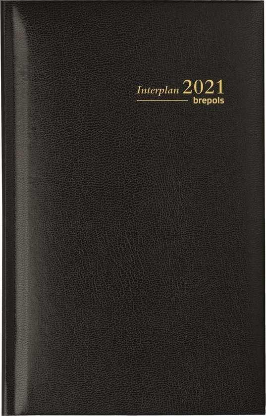 Afbeelding van Brepols Agenda 2021 • Interplan NL  • Lima kunstleder cover • 9 x 16 cm • 1week - 2 paginas • Zwart