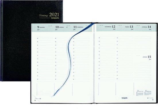 Afbeelding van Brepols Agenda 2021 • Timing NL • Lima kunstleder • 17,1 x 22 cm • Zwart