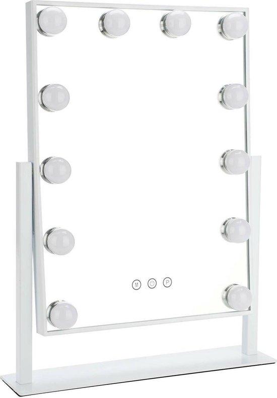 Bright Beauty Vanity make up spiegel met verlichting - wit - dimbaar met drie lichtstanden