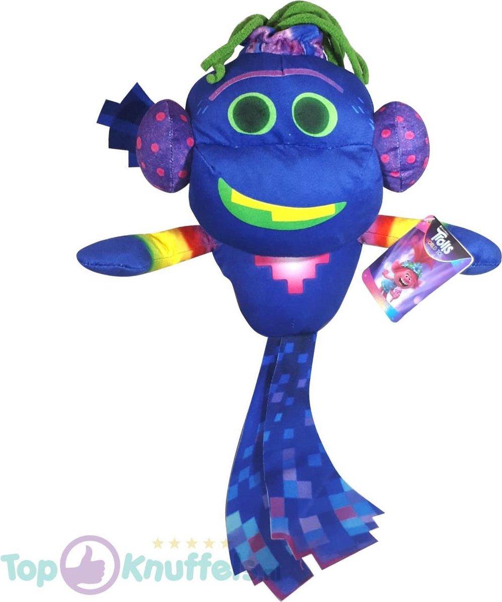 King Trollex Trolls Pluche Knuffel 38 cm | Trolls Wereldtour | Trolls World tour | Trols Plush | Poppy & Friends