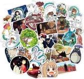 Spirited away stickers - Hayao Miyazaki Japanse anime - 50 stickers -